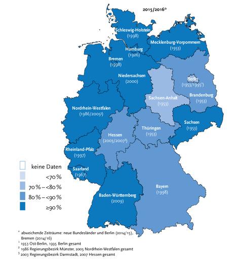 krebsrate deutschland karte Krebs   Vollzähligkeitsschätzung