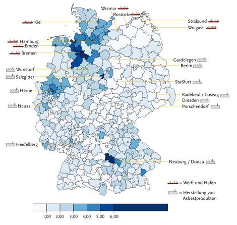 krebsrate deutschland karte Krebs   Mesotheliom
